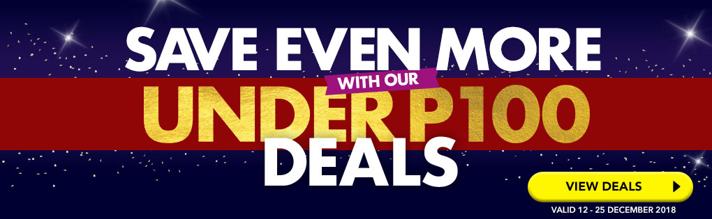 SAVE EVEN MORE WITH OUR UNDER P100 DEALS