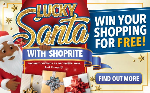 LUCKY SANTA WITH SHOPRITE